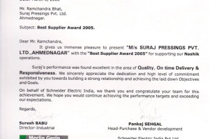 Best-supplier-award-from-Schneider-Electric