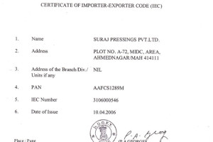 Import-Export-certification